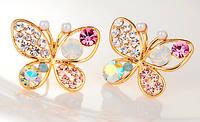 Серьги Бабочки Crystal (tb698)