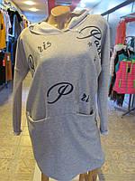 Платье-туника спорт, размер 44-46, код 2554М