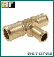 Трійник ГБО T 23mm / 16mm / латунь 23mm