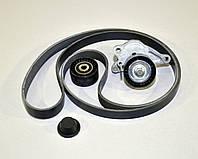Комплект натяжитель + ролик + ремень генератора на Renault Master III-> 2.3dCi (+AC) - 7701476645J