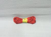 Шнур атласный, Красный, 0,2см