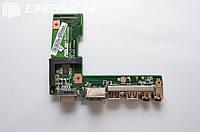 Плата VGA HDMI USB AUX для ноутбука Asus A52J