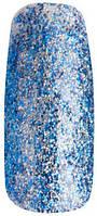 Гель-лак Tertio 075 Синий / серебряные микроблёстки, 10 мл.