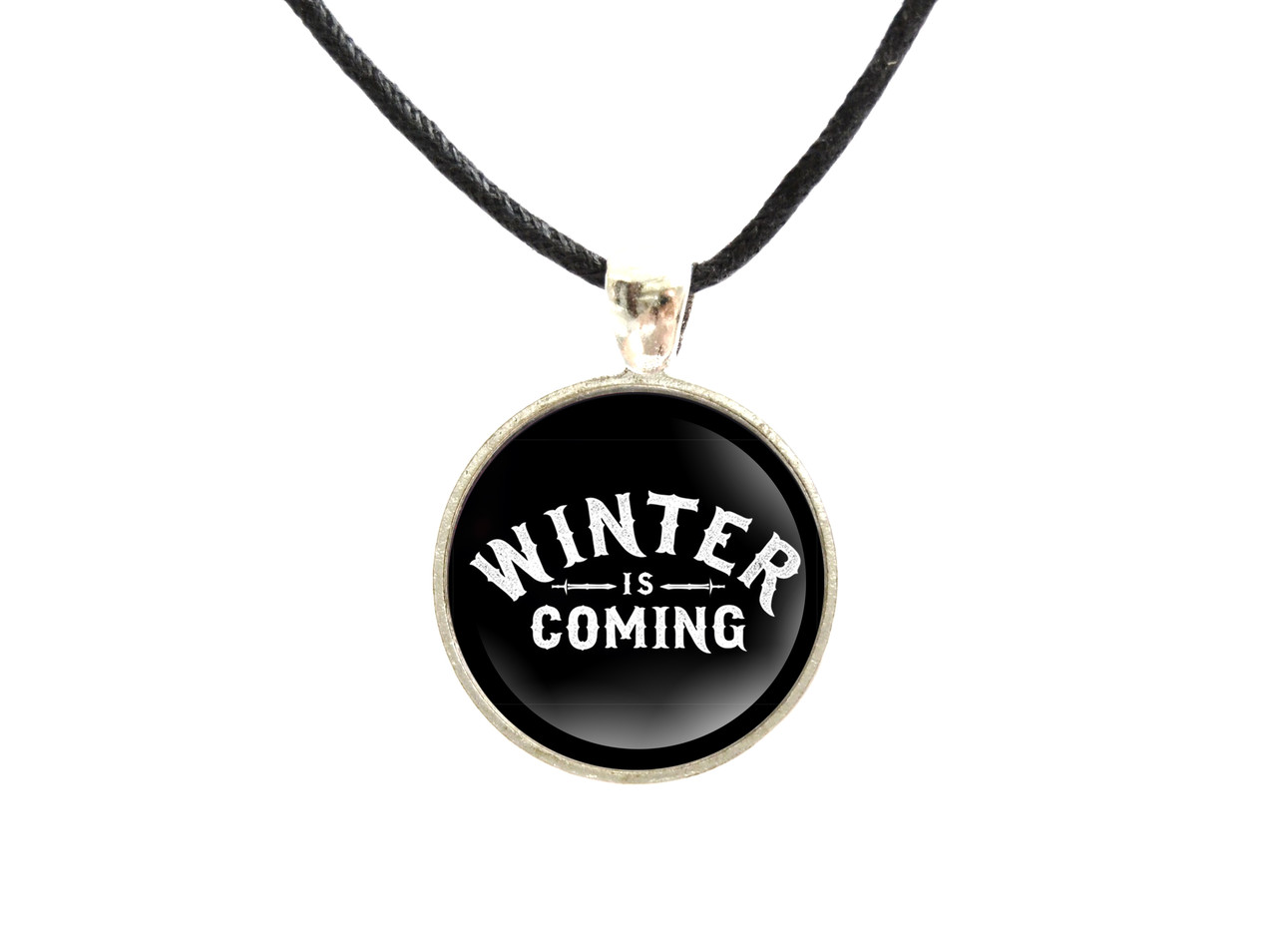 Кулон круглый  Winter is coming Игра престолов Game of Thrones