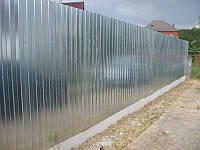 Профнастил стеновой С-15 цинковый 0,45