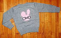 Вязанная кофта для девочки Зайченя 1-4 лет