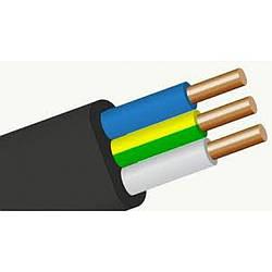 Кабель ВВГ-П нг 3х1,5 ЗЗЦМ(медный плоский кабель в двойной изоляции)