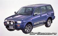 Лобовое стекло Nissan TERRANO II ,Ниссан Терано (R20) 1993-2004 AGC