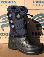 Сапоги женские зимние синие, 36-41 р-р