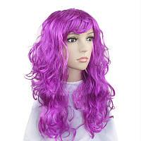 Парик  длинный фиолетовый прямой 62 см
