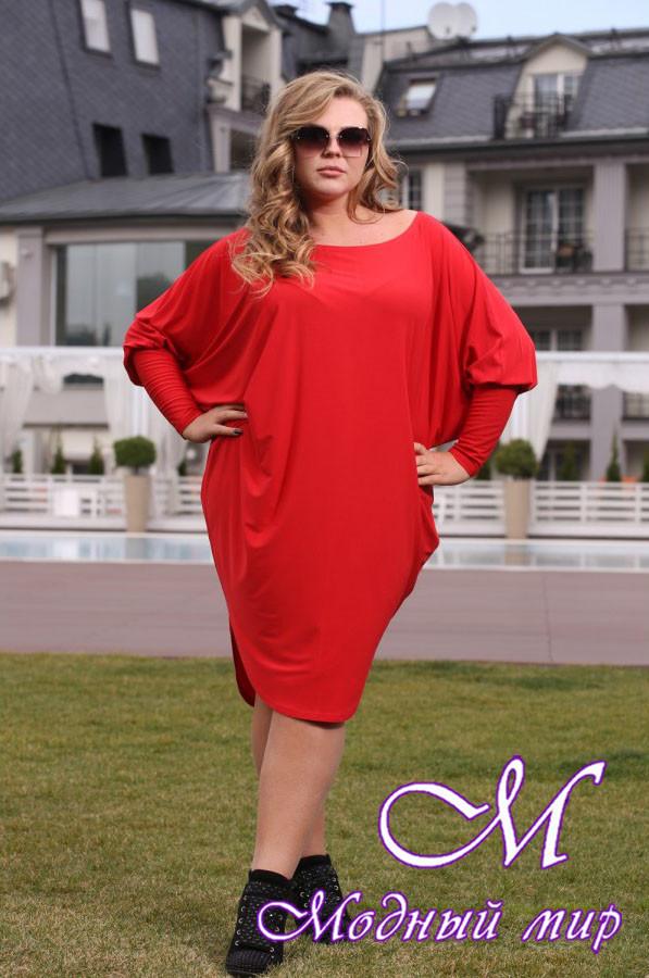 97bb44ca55277a8 Женское трикотажное платье большие размеры (48-90) арт. Сальса - Модный мир