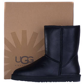 Угги мужские кожаные UGG Australia черные