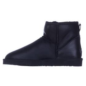 Угги мужские кожаные UGG Australia черные короткие