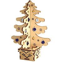 Набор новогоднее украшение из фанеры Новогодняя елка F-023