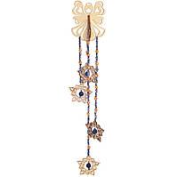 Набор новогоднее украшение из фанеры Подвеска Синий ангел F-026