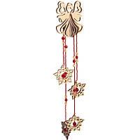 Набор новогоднее украшение из фанеры Подвеска Красный ангел F-027