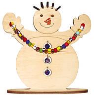 Новогоднее украшение Снеговик F-033