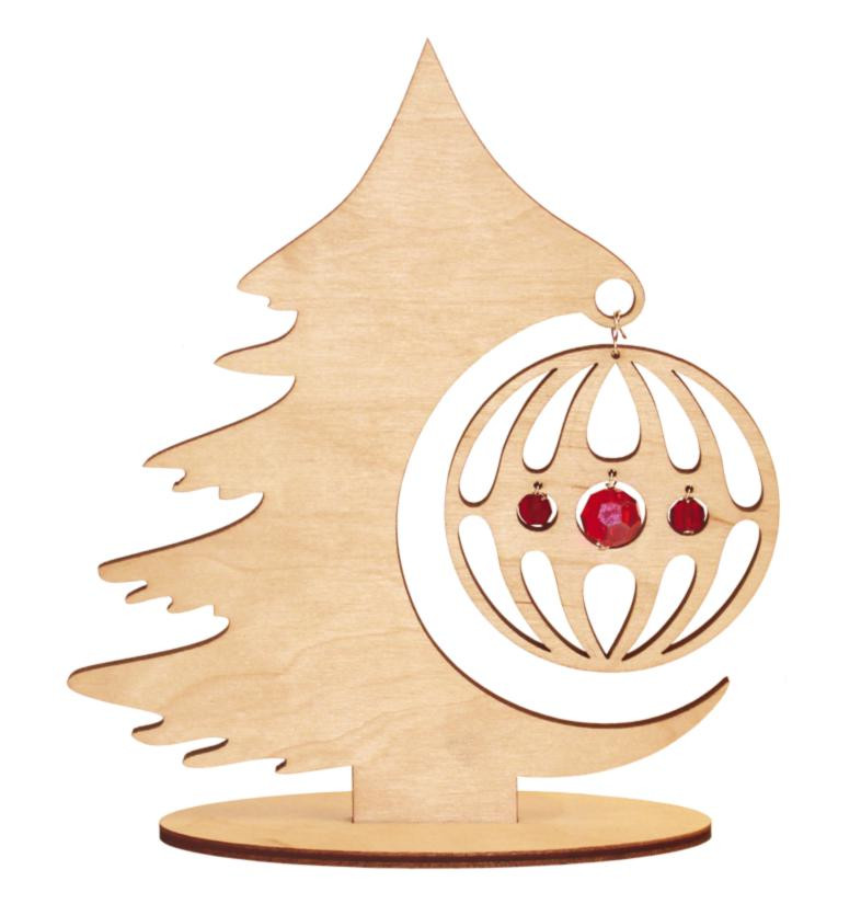 Набор новогоднее украшение из фанеры Лесная красавица F-034