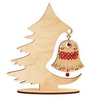 Набор новогоднее украшение из фанеры Праздничный перезвон F-043