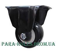 Мебельный ролик Ø 50 мм на неповоротном (глухом) кронштейне.