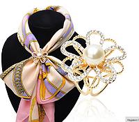 """Брошь кольцо """"Цветок 1"""" для шарфика и платка"""