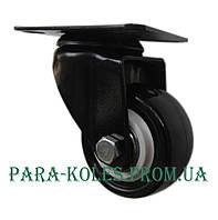 Мебельный ролик  Ø 40 мм на поворотном кронштейне.