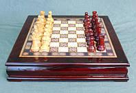 """Игра настольная """"Шахматы деревянные"""" 39х39х8 см."""