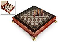 "Игра настольная ""Шахматы деревянные"" 40х40х9 см. светлые"