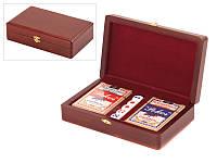 """Игра настольная """"Покер без фишек"""" 20х12х5 см. в деревянной коробке"""