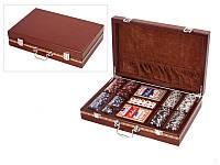 """Игра настольная """"Покер 200 фишек"""" 32х21х7 см. в деревянной коробке"""