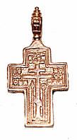 Серебряный крестик с позолотой. Высота 3 см. Ширина 15 мм.