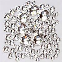 Стразы для ногтей микс размер, кристалл - 1200 шт.