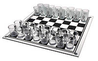 "Игра алкогольная настольная ""Шахматы стеклянные"" 35х35 см."