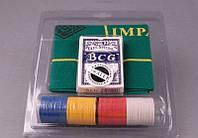 """Игра настольная """"Покер 200 фишек"""" 21х23 см. в пласиковой упаковке"""