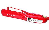 Утюжок выпрямитель для волос KM1282 Kemei, керамические пластины, 45 Вт, терморегуляция