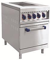 Электрическая напольная плита Abat ЭП-2ЖШ с духовкой, 2 конфорки, 550х897х860 мм