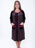 Женский велюровый халат Восточный арнамент