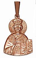 Серебряная  иконка с позолотой. Высота 3 см. Ширина 15 мм.