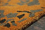 Чорно сіро помаранчевих дизайнерський килим шерстяний, фото 4