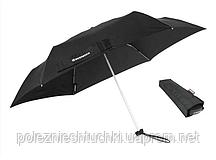 Зонтик карманный 175 г.телескопический плоский черный WENGER W1106