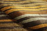 Дизайнерський віскозний килим в помаранчеву сіру і коричневу смужку, фото 4
