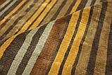 Дизайнерський віскозний килим в помаранчеву сіру і коричневу смужку, фото 6