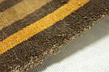 Дизайнерський віскозний килим в помаранчеву сіру і коричневу смужку, фото 8