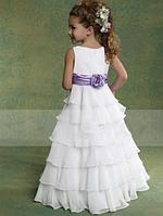 Плаття довге з воланами, фото 2