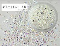 Стразы для ногтей Crystal AB 1.3 мм, 1000 шт.