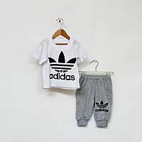 Комплект для мальчика:футболка и бриджи р.80-86