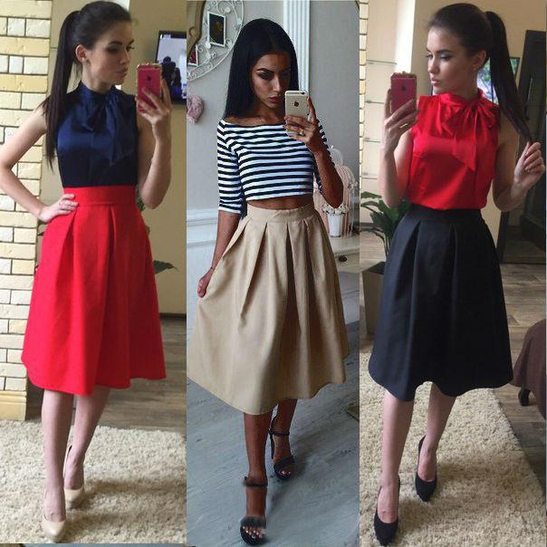 Женская стильная юбка Миди - 9 цветов!, цена 295 грн., купить в ... b142567b6c0