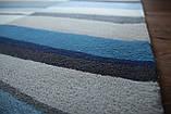 Сучасний вовняний килим з сіро-блакитним малюнком, фото 7