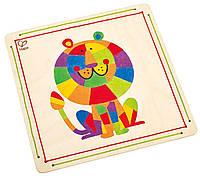 """HAPE Мозаика для раскрашивания  """"Король джунглей"""" (Е5116), фото 1"""
