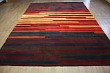 Большой современный ковер оранжево терракотового цвета 250х350см, фото 2
